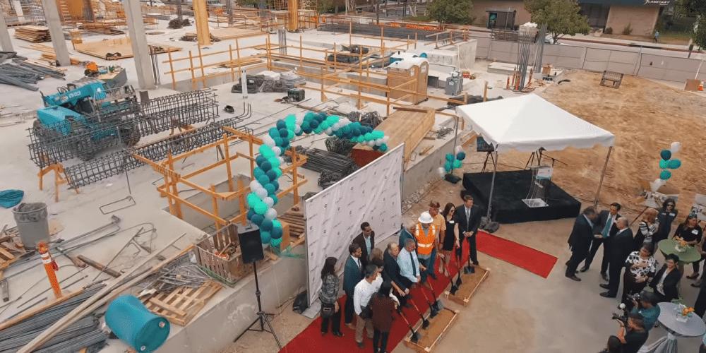 Portfolio - Hyatt Place Pasadena Groundbreaking Ceremony Event Aerial Videography